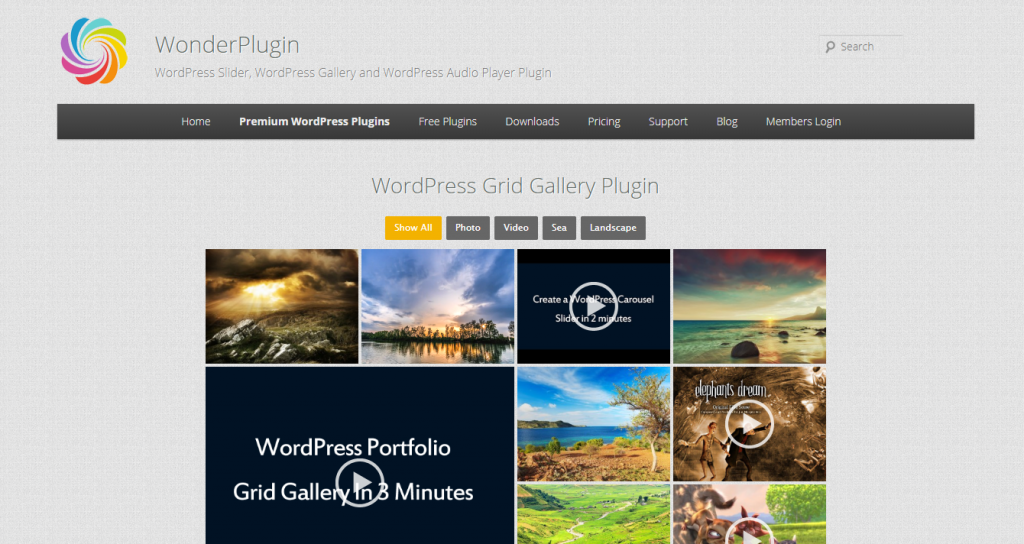 Wonder Portfolio Grid